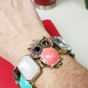 Owl adorned bracelet